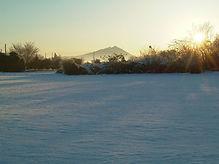 寒締めフルーツにんじん,雪の朝,筑波山