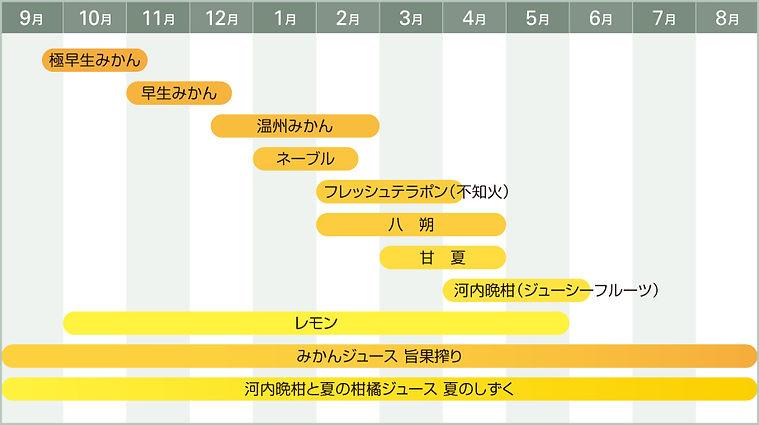 みかん 柑橘類 出荷カレンダー