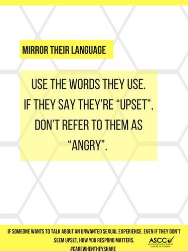 Mirror their language