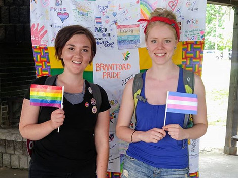 ASCC co-founders at Pride Brantford, 2018