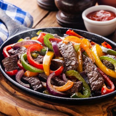 Oven Baked Beef Fajitas