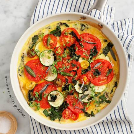 Tomato & Zucchini Frittata