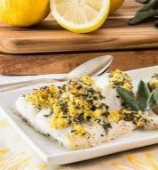 Lemon Sage Baked Cod