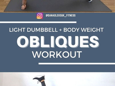 Light Dumbbell + Body Weight Obliques