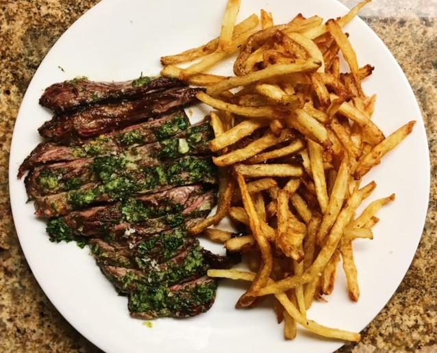 Herb steak & chips