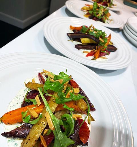 Charred heirloom carrot salad