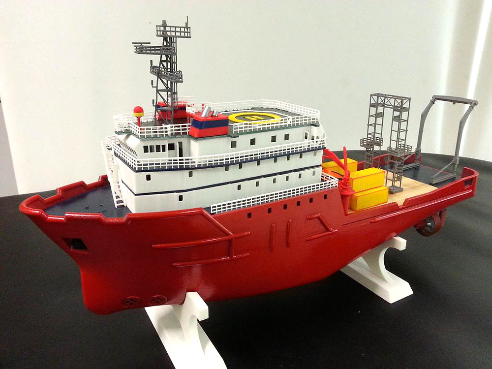 ship details, made using 3D printing technology