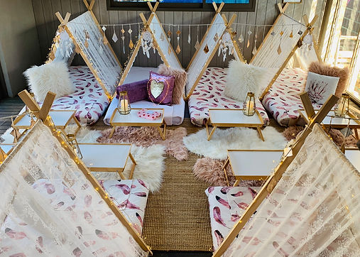 girls-sleepover-teepee-hire