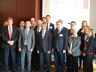 Acceuil d'une délégation Finlandaise à St Nazaire le 19 mars 2018