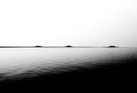 Hallig Hooge: Am Horizont