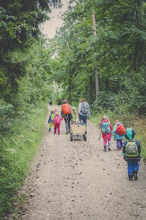 Ein Wald-Kindergarten