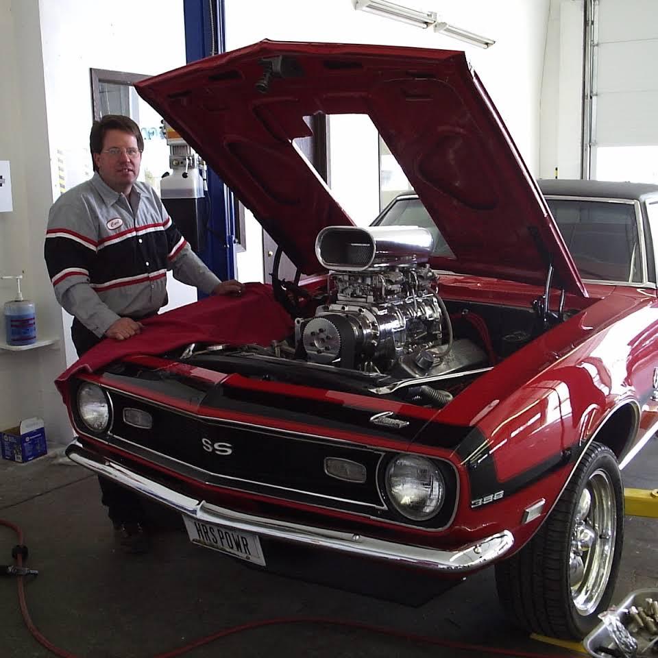 Carl working on Camaro 2