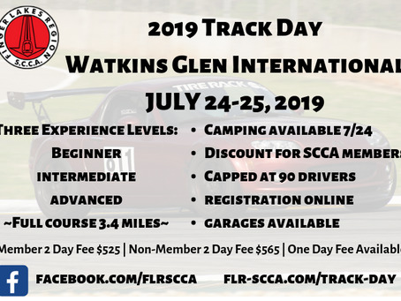 Track Day Details Announced