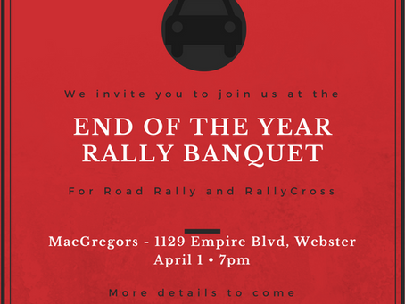 End of the Year Rally Banquet
