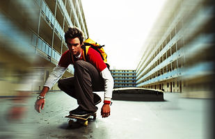 Planche à roulettes adolescent