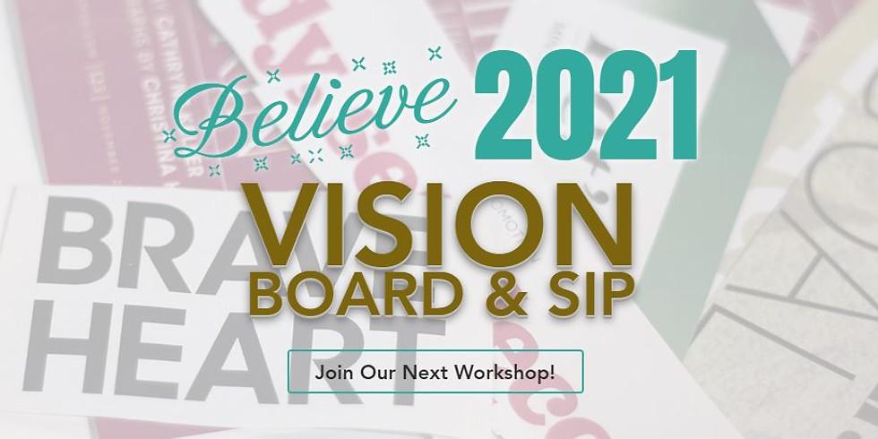 Vision Board & Sip!