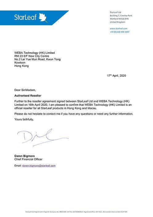 WEBA - Reseller confirmation letter - Ap