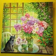 Татьяна Абрамова. Натюрморт с котом