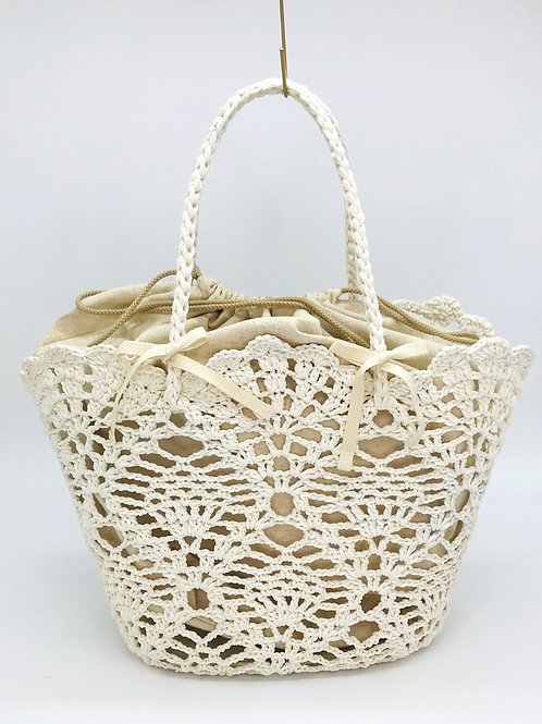 crochete bascket(クロシェット バスケット)Msize.color:OFF WHITE