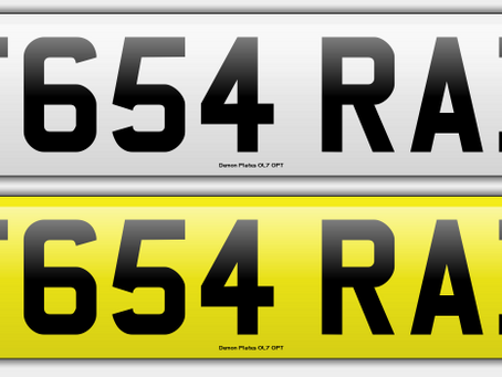 New Registration Number F654 RAB