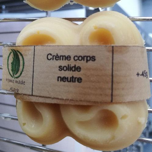 Crème corps solide neutre