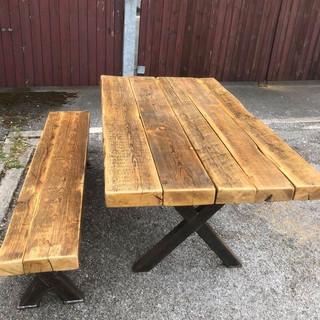 Reclaimed Oak Pine Dining Table