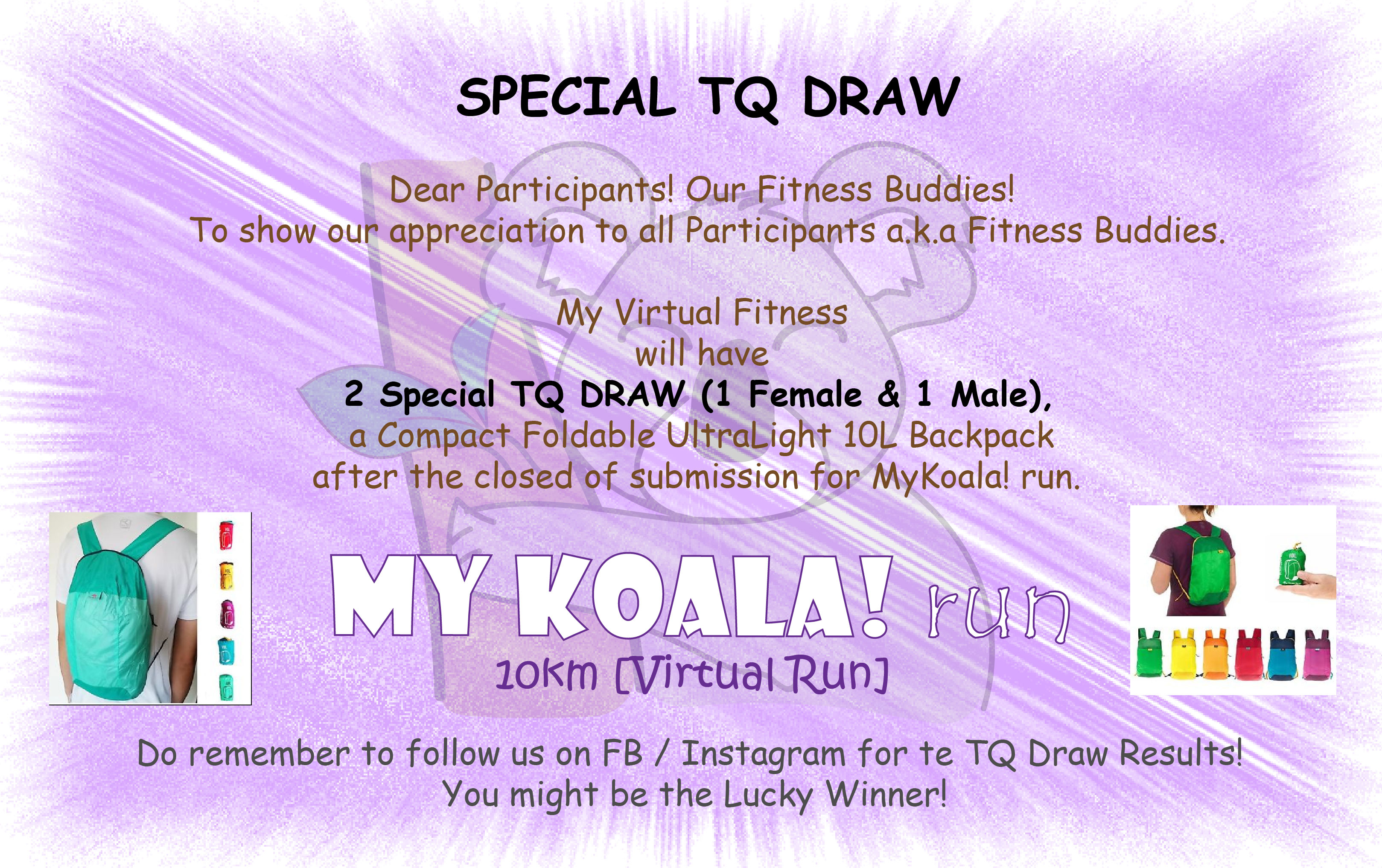 MyKoala! run TQ DRAW