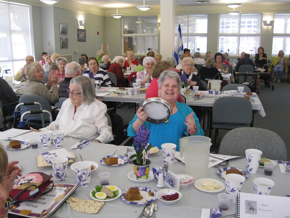 Celebrating Passover at Evelyn & Daniel Tabas House