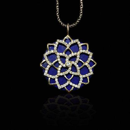 Flower Mandala, White Gold