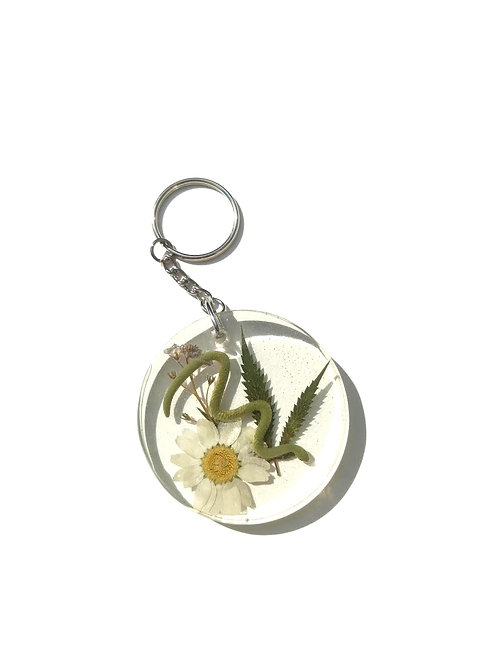 SNAKE IN THE GRASS KEYCHAIN