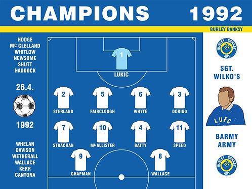 'CHAMPIONS 1992' framed print