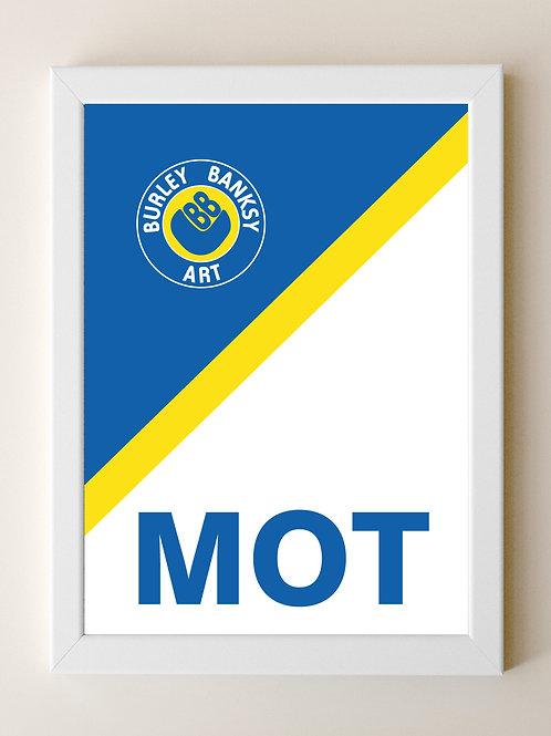 MOT ( white) Framed A4 Print