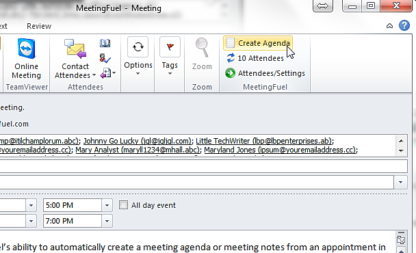 MeetingFuel automated meeting agendas and notes – How to Create a Agenda