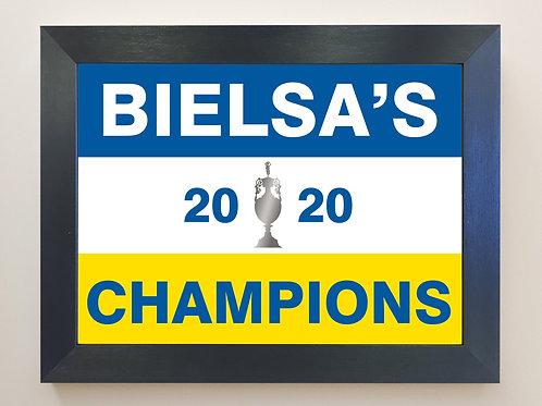 BIELSA'S CHAMPIONS Framed A4 Print