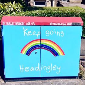 Leeds street art | Burley Banksy #burleybanksy