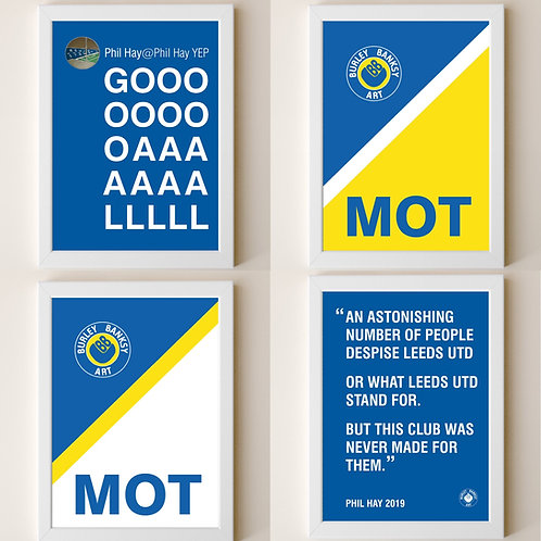 "The ""Man Cave"" A4 MOT Phil Set -  4 Framed A4 Prints"