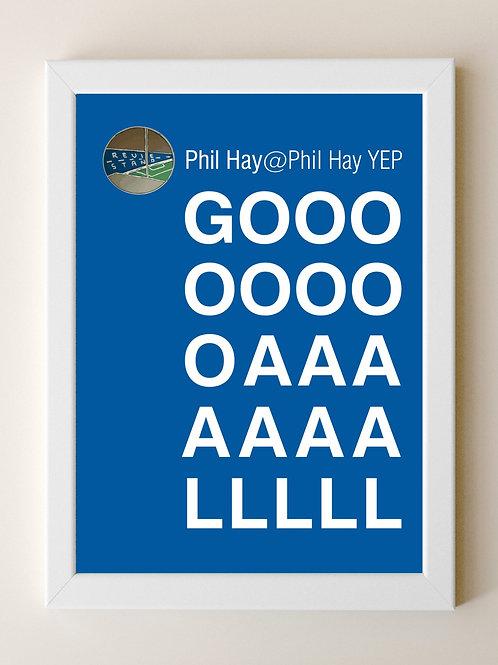 Framed  Phil Hay GOOOAAALLL A4 Print