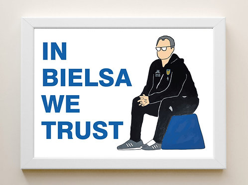 IN BIELSA WE TRUST Framed A4 Print