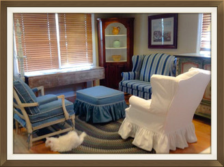 With Some Imagination, Vintage Fabrics: Slipcovers Complete Chic Home Reno
