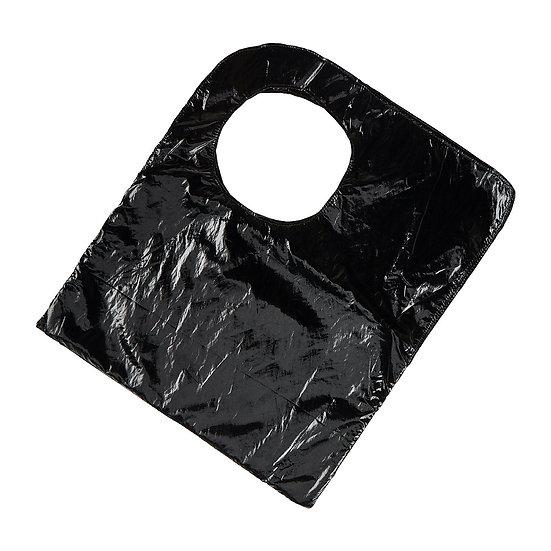 Χειροποίητη Τσάντα SquareO-Black Vinyl