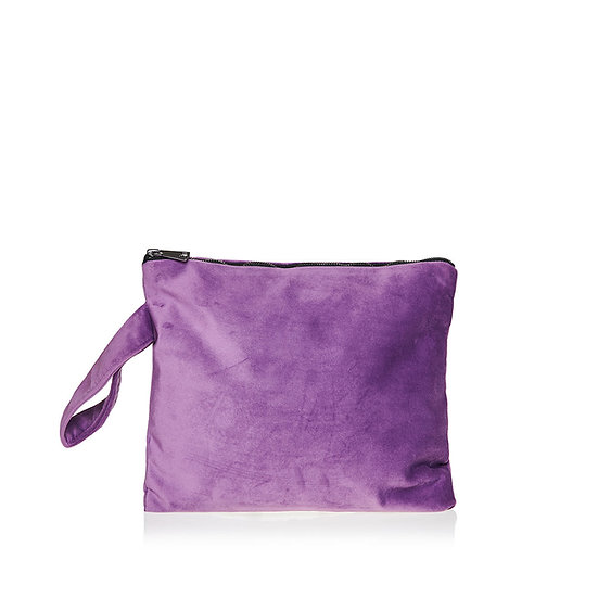 SquareW purple velour τσάντα