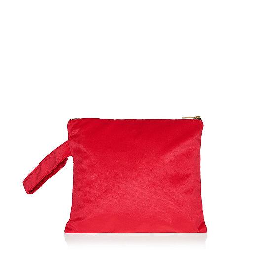 SquareW red velvet τσάντα
