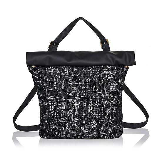 SquareR black tweed τσάντα