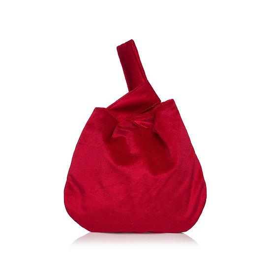 SquareP red velvet τσάντα