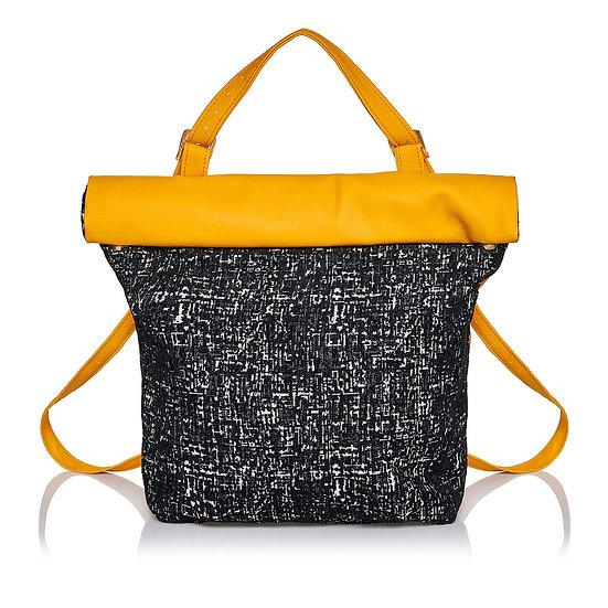 Χειροποίητη Τσάντα SquareR-Yellow Tweed