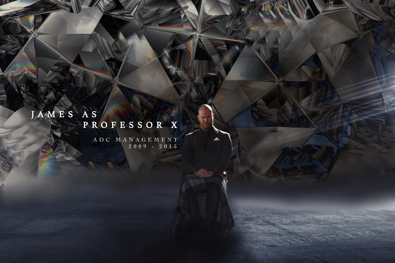 JAMES as PROFESSOR X