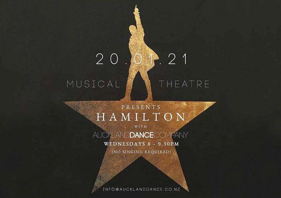 Hamilton - Musical Theatre Auckand Dance