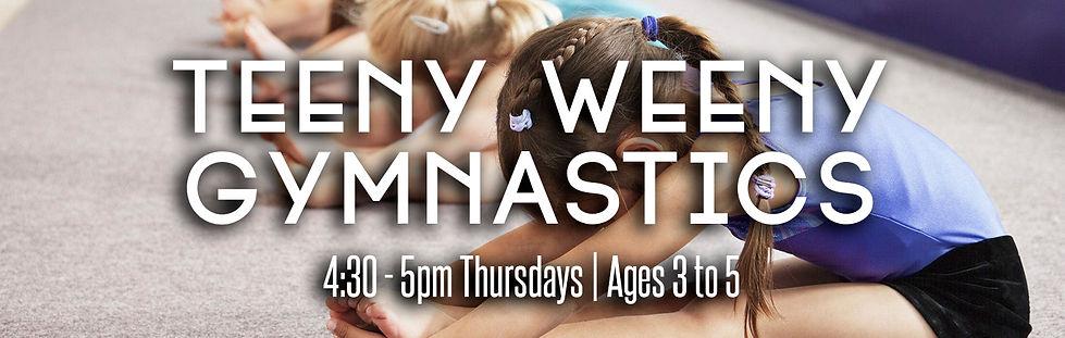 Teeny Weeny Gymnastics website banner au