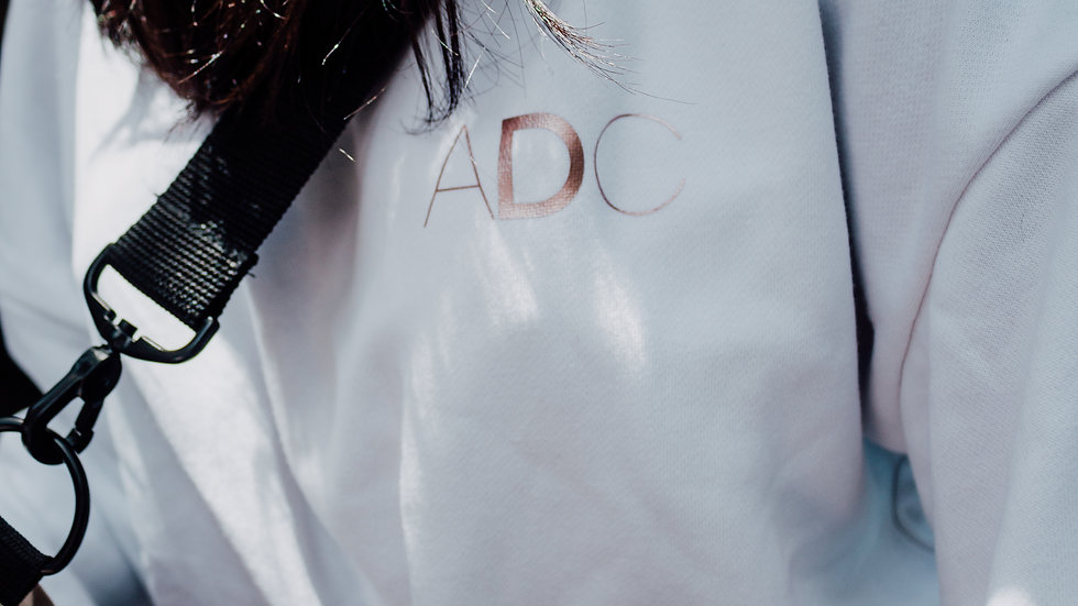 ADC WHITE LACE-UP SWEATSHIRT