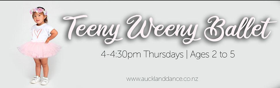 Teeny Weeny Ballet Website Banner auckla